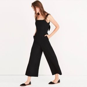Madewell Apron Bow Back Jumpsuit